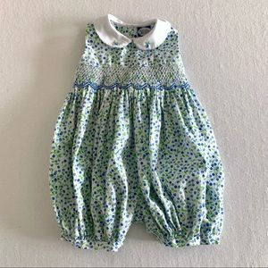 Carriage Boutiques Blueberry Smocked Romper